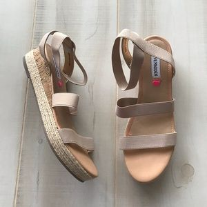 Steve Madden Espadrille Wedge Sandals Tan 7M